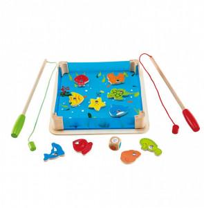Joc de Pescuit Magnetic din Lemn, Partat pentru Copii Educativ si Distractiv