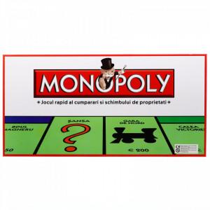 Joc Monopoly clasic, dezvolta abilitati antreprenoriale, in limba romana