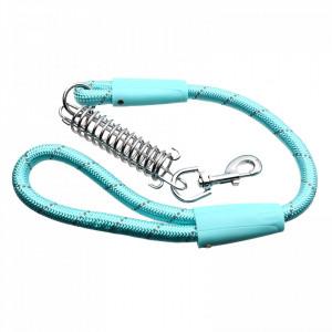 Lesa cu amortizor pentru caini de talie mare, Bleu, 80 cm