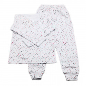 Pijamale copii, Model bulinute colorate, Model Romanesc, Bumbac, 3 - 4 ani, P34P4