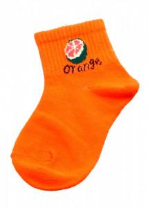 Set 2 bucati, Sosete pentru copii, cu imprimeu Orange, 4-6 ani, Portocaliu