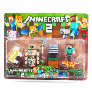 Set 8 accesorii si figurine tip Minecraft si creeperul urias