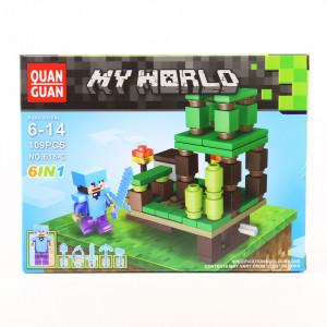 Set de constructie Lego, Lumea de cristal tip Minecraft, 109 Piese