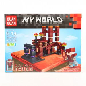 Set de constructie Lego, Lumea de lava tip Minecraft, 108 Piese