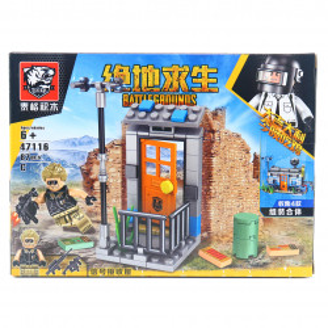Set de constructie Lego, Razboinul neinfricat tip PUBG, 87 Piese