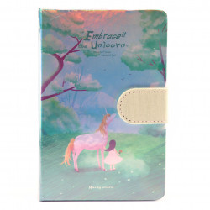 Agenda nedatata Embrace the Unicorn, 9.5 x 14.5cm, 244 file, Verde