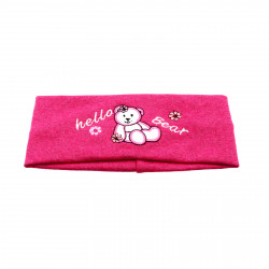 Bentite pentru fete, cu imprimeu ursulet, Roz inchis