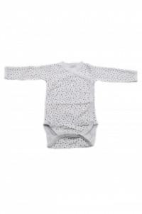 Body copii cu maneca lunga si manusi, Imprimeu punctulete colorate, 3 - 6 luni, BM36BM3