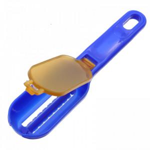 Curatator solzi de peste, spatiu pentru colectarea solzilor cu capac, 17 cm, Albastru