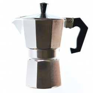 Espressor de cafea pentru aragaz sau plita cu inductie din aluminiu, 3 cesti