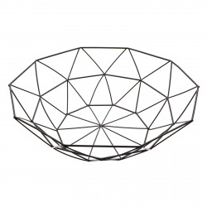 Fructiera, cu design modern, triunghiuri, 26 x 8.5 cm, Negru