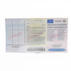 Husa pentru certificat de inmatriculare, Plastic