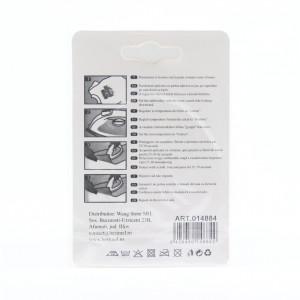 Petic textil / patch brodat buze rosii 5x6 cm