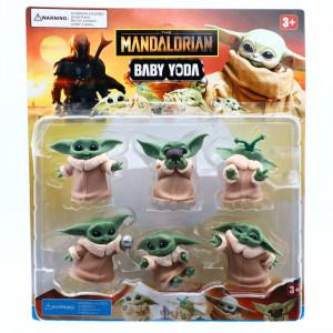 Set 6 Figurine Star Wars Baby Yoda Mandalorian