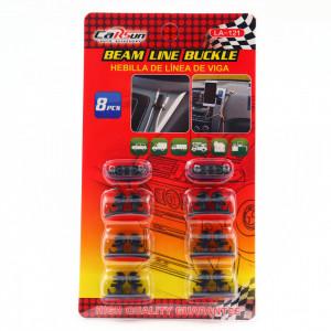 Set 8 buc, suport universal cabluri pentru masina sau birou