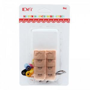 Set accesorii pentru sutien, cu 1 rand, Bej