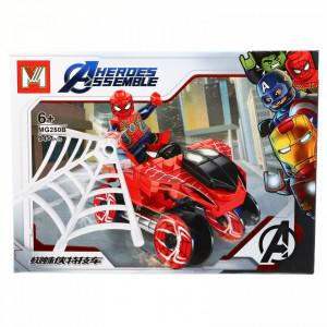 Set de constructie, Avengers si Spiderman, 94 piese