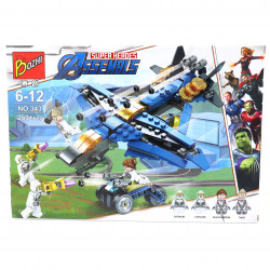 Set de constructie Lego, Bozhi, Super eroii ataca, 259 piese