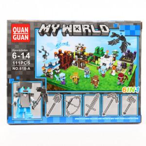 Set de constructie Lego, Lumea de gheata tip Minecraft, 111 Piese