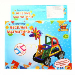 Set de constructie magnetic educativ pentru copii, compune diferite forme geometrice 3D, 27 Piese