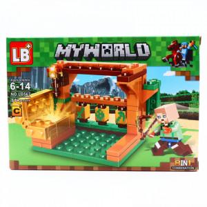Set de constructie, Minecraft si Comoara pierduta din Elmor, 81 piese