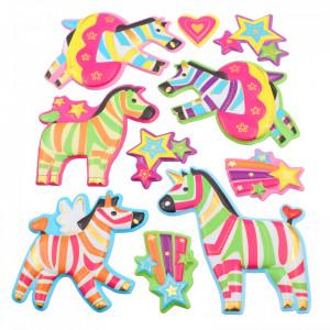 Set Sticker 3D pentru copii, Caluti, decor camera, 10 piese, JJ-FD009, Multicolor