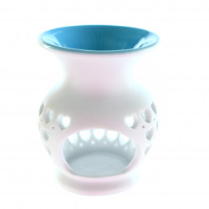 Suport din ceramica pentru aromaterapie, inimioare, Bleu