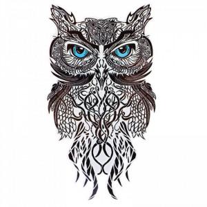 Tatuaj temporar, Bufnita, GF1021, 16.5 x 9 cm