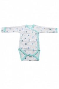 Body copii cu maneca lunga si manusi, Imprimeu barcute, 3 - 6 luni, BM36BM4