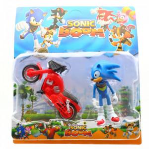 Figurina cu motocicleta, Sonic Boom, 12 cm, SB-3