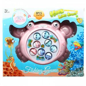 Joc competitiv cu undita si pesti magnetici pentru copii, Roz