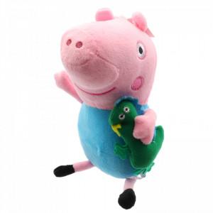 Jucarie de plus, Peppa Pig, George Pig, 20 cm, Roz