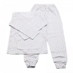 Pijamale copii, Model bulinute colorate, Model Romanesc, Bumbac, 5 - 6 ani, P56P4