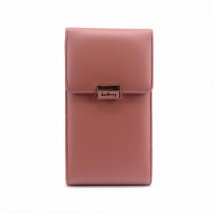 Portofel Dama tip gentuta, Baellerry, Roz inchis, Piele ecologica