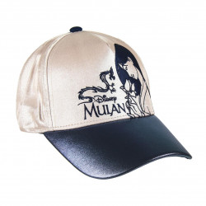 Sapca Mulan cu logo brodat, Bej, 56 cm