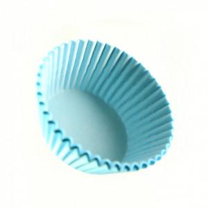 Set 100 bucati, forme de copt din hartie pentru briose, 8cm, Bleu
