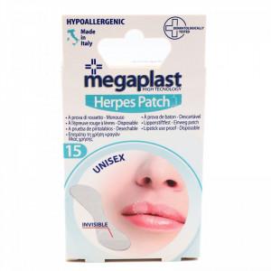 Set 15 buc, Plasture invizibil anti herpes, 14 mm