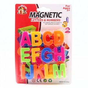 Set 24 buc, Litere Magnetice, tot alfabetul, Multicolor