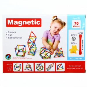 Set de constructie cu Magnetic, 70 piese