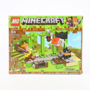 Set de constructie Lego, Trambulina de TNT tip Minecraft, 117 Piese