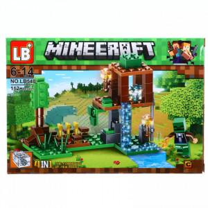 Set de constructie, Lumea Minecraft si cascada fermecata in Eliria, 112 piese