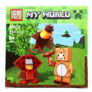 Set de constructie, Minecraft my world, Altarul papagalilor cu cioc de aur, 31 piese