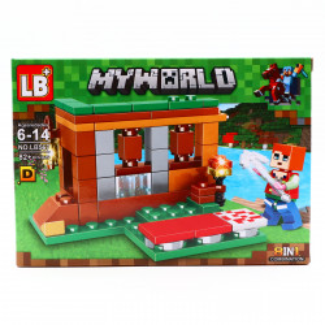 Set de constructie, Minecraft si capcana de la capatul lumii, 82 piese