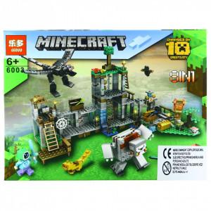 Set de constructie, tip Minecraft, Pasajul cu acvariu si flori, 100 piese
