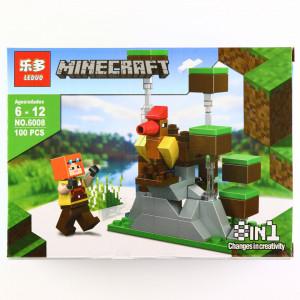 Set de constructie, tip Minecraft, Turnul Cocos , 100 piese