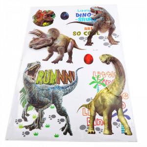 Set Stiker 3D, Dinozauri pentru copii, decor, FL-001 Multicolor