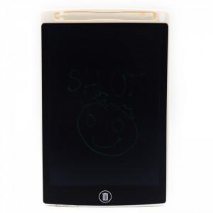 """Tableta LCD pentru scris si desenat, buton de stergere, buton de blocare, baterie 2 ani, 8.5"""", Negru"""