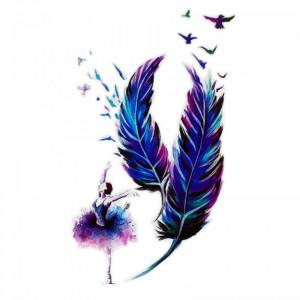 Tatuaj temporar, Balerina, WS009, 16 x 9 cm