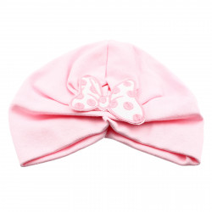 Turban pentru fetite, cu fundita, +12 luni, Roz