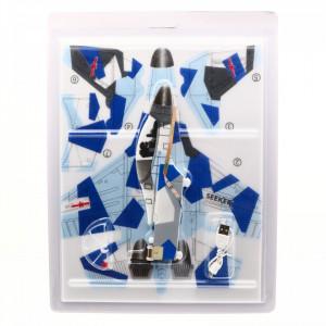 Avion planor din polistiren cu elice si lumina LED, incarcare USB, lungime, 30 cm, Albastru cu Bleu